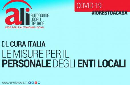 PERSONALE ENTI LOCALI: ECCO LE SCHEDE CHE ILLUSTRANO LE MISURE CONTENUTE NEL DL CURA ITALIA