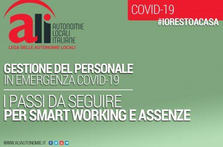 GESTIONE DEL PERSONALE in emergenza covid-19: I PASSI DA SEGUIRE PER SMART WORKING E ASSENZE
