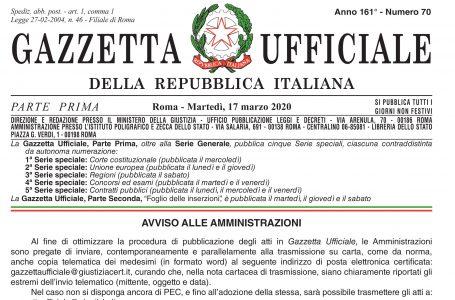 """IN GAZZETTA UFFICIALE LA LEGGE DI CONVERSIONE DEL DL. N. 76/2020 """"DECRETO SEMPLIFICAZIONI"""""""