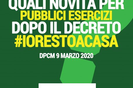 Decreto #iorestoacasa | PUBBLICI ESERCIZI