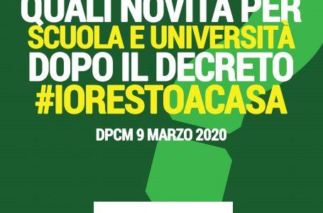 Decreto #iorestoacasa | SCUOLA E UNIVERSITA