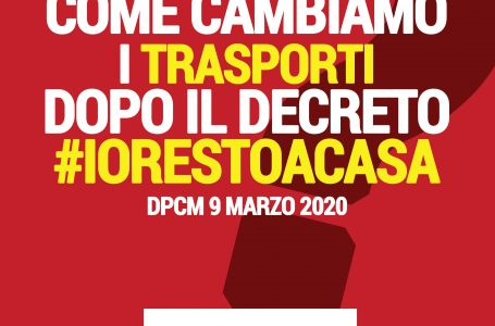Decreto #iorestoacasa | I TRASPORTI