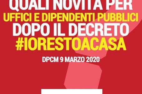 Decreto #iorestoacasa | UFFICI E DIPENDENTI PUBBLICI