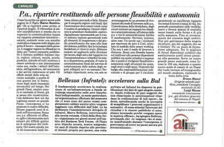 RIPARTIRE RESTITUENDO ALLE PERSONE FLESSIBILITÀ ED AUTONOMIA