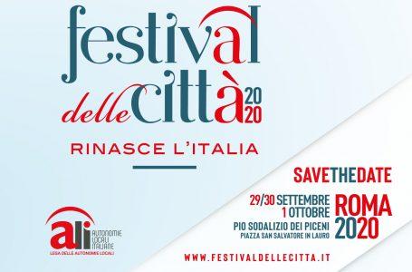 DAL 29 SETTEMBRE AL 1 OTTOBRE A ROMA IL FESTIVAL DELLE CITTA'