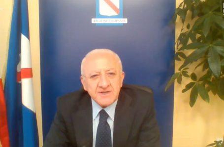 """VINCENZO DE LUCA: """"AVREMO DAVANTI MESI MOLTI DELICATI DAL PUNTO DI VISTA SOPRATTUTTO DEI BILANCI"""""""