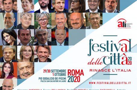 FESTIVAL DELLE CITTÀ 2020: ECCO LE PRIMISSIME CONFERME DI PARTECIPAZIONE. IL 29 SETTEMBRE PARTE LA SECONDA EDIZIONE