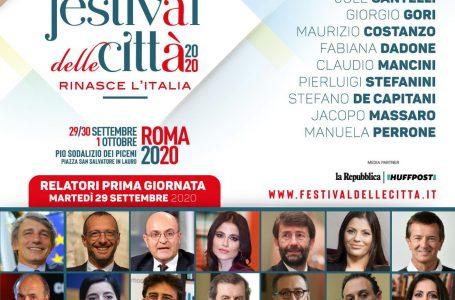 FESTIVAL DELLE CITTÀ 2020: IL 29 SETTEMBRE SI APRE CON SASSOLI, MISIANI, FRANCESCHINI E DADONE