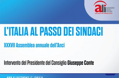 """#ANCI2020, CONTE: """"SINDACI SENTINELLE COESIONE SOCIALE"""""""