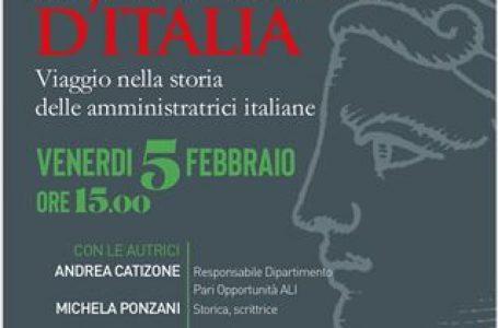 """""""Le Sindache d'Italia"""". Il primo libro sulle Sindache, a cura del Dipartimento Pari Opportunità di ALI"""