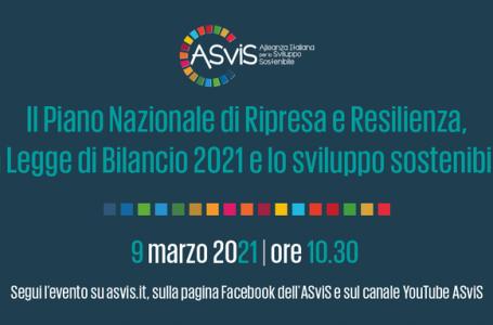 Evento ASviS sul Piano nazionale di ripresa e resilienza e la Legge di Bilancio 2021