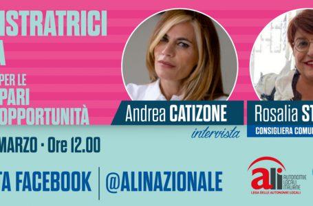 Le amministratrici d'Italia: domani alle ore 12.00 Andrea Catizone intervista Rosalia Stadarelli, consigliera del Comune di Misilmeri