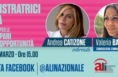 Le amministratrici d'Italia: domani alle ore 15.00 Andrea Catizone intervista Valeria Baglio, consigliera del Comune di Roma