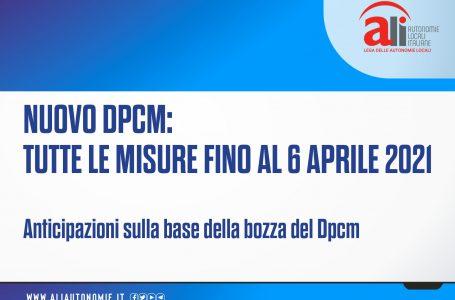 Nuovo Dpcm, le principali misure nelle schede ALI