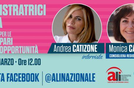Dipartimento pari opportunità: domani alle ore 12.00 intervista a Monica Canalis, consigliera regionale del Piemonte
