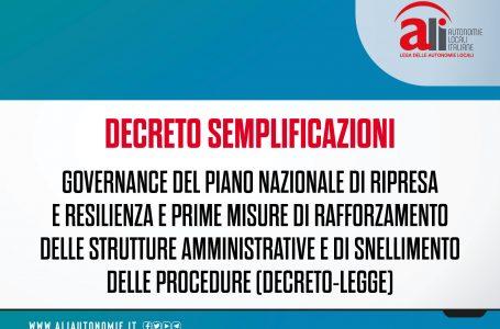 Decreto semplificazioni 2021, tutte le misure nelle schede ALI