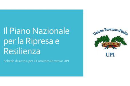 PNRR: l'Upi fa la sintesi delle misure previste per Province, Comuni e Regioni