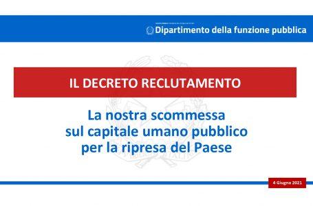 """Decreto legge """"Reclutamento"""". Per il rafforzamento della capacità amministrativa delle pubbliche amministrazioni per l'attuazione del PNRR"""
