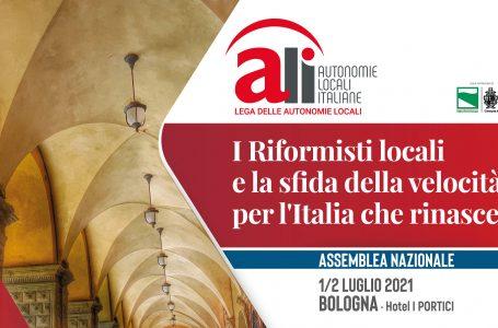 I riformisti locali e la sfida della velocità, per l'Italia che rinasce: il programma dell'Assemblea nazionale ALI 2021