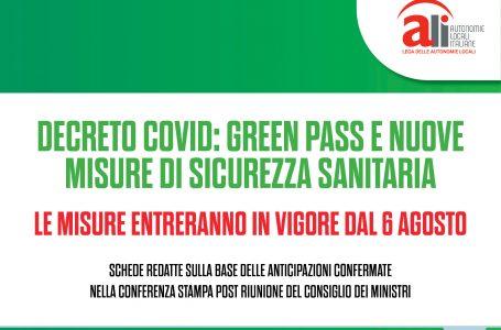 Decreto Green pass, le principali novità nelle schede ALI