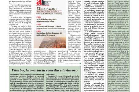 Viterbo, la provincia concilia vita-lavoro