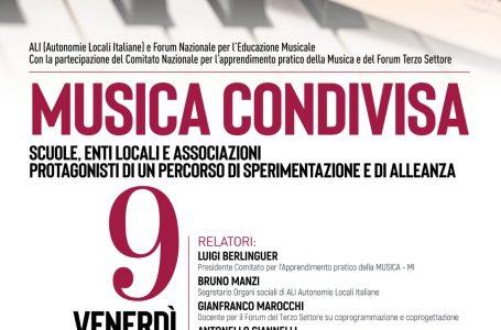 Musica Condivisa, venerdì 9 luglio il webinar per il contrasto alla povertà educativa e culturale