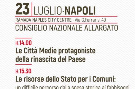 ALI, Consiglio nazionale allargato il 23 luglio a Napoli