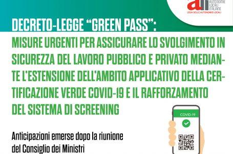 Green Pass e lavoro, il nuovo decreto del Governo