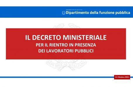 Rientro in presenza, il decreto del ministro Brunetta inviato a Regioni, Province ed enti locali