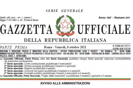 Capienze: il Decreto-legge pubblicato in Gazzetta Ufficiale