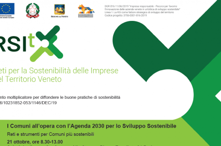 """""""I Comuni all'opera con l'Agenda 2030 per lo Sviluppo Sostenibile"""", il secondo appuntamento a Padova il 21 ottobre."""